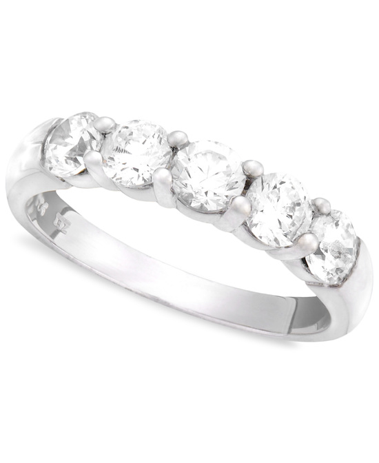 White Gold Multiple Stones Wedding Ring BPCP5100
