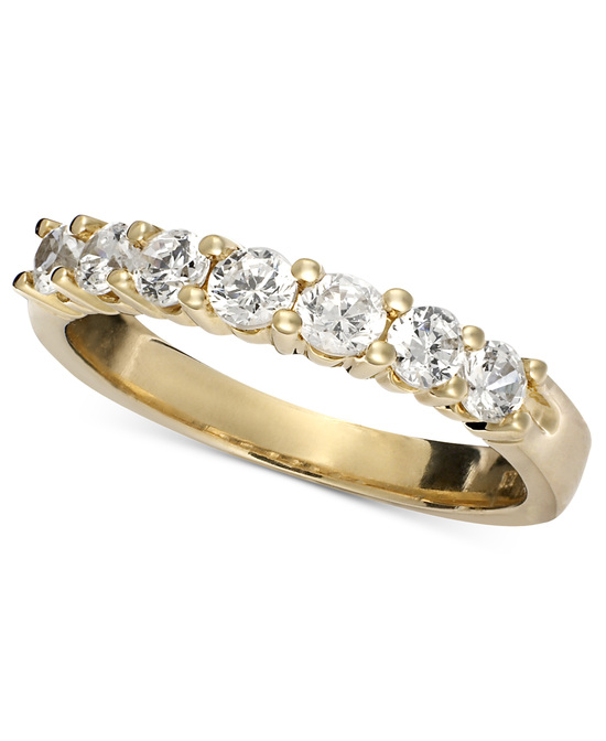 Yellow Gold Multiple Stones Wedding Ring BP7ST75Y