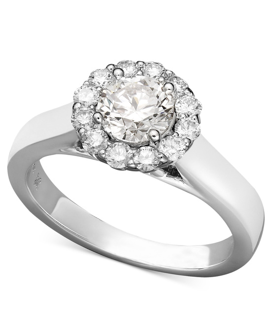 White Gold Multiple Stones Engagement Ring IE1358CWA1