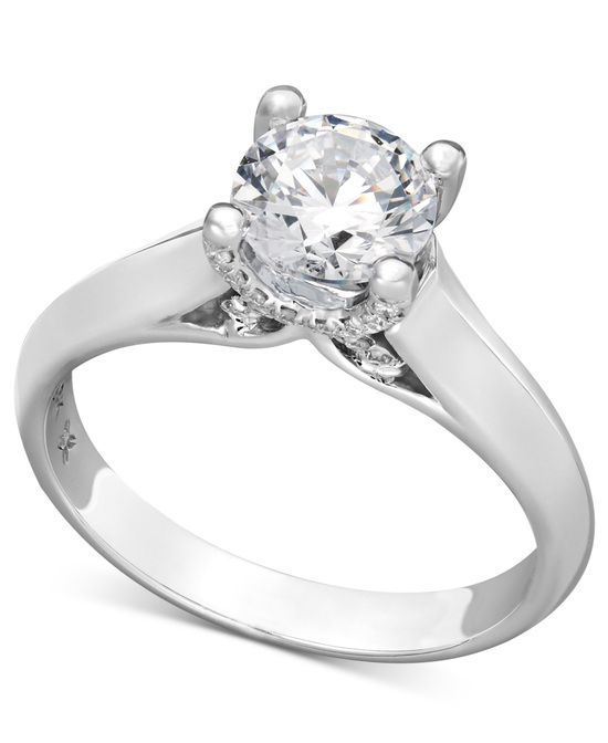 photo of White Gold Solitaire Engagement Ring IE1376CWA1