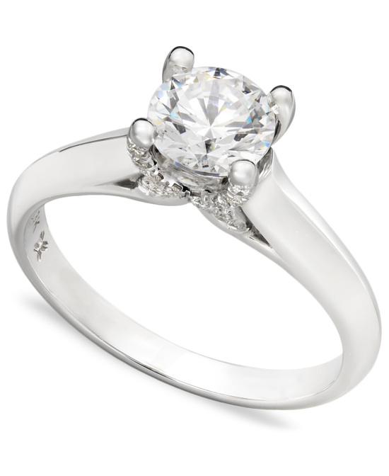 White Gold Solitaire Engagement Ring IE1374CWA1