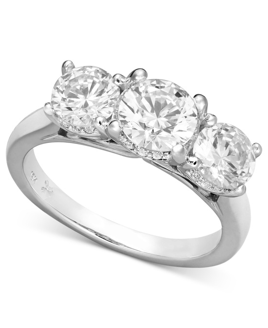 White Gold Multiple Stones Engagement Ring IT1191CWA1