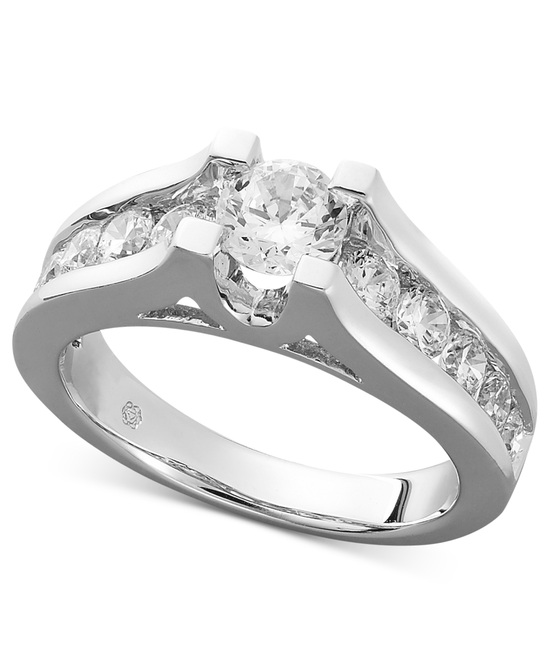 photo of White Gold Multiple Stones Engagement Ring REC225NB-FWQ6