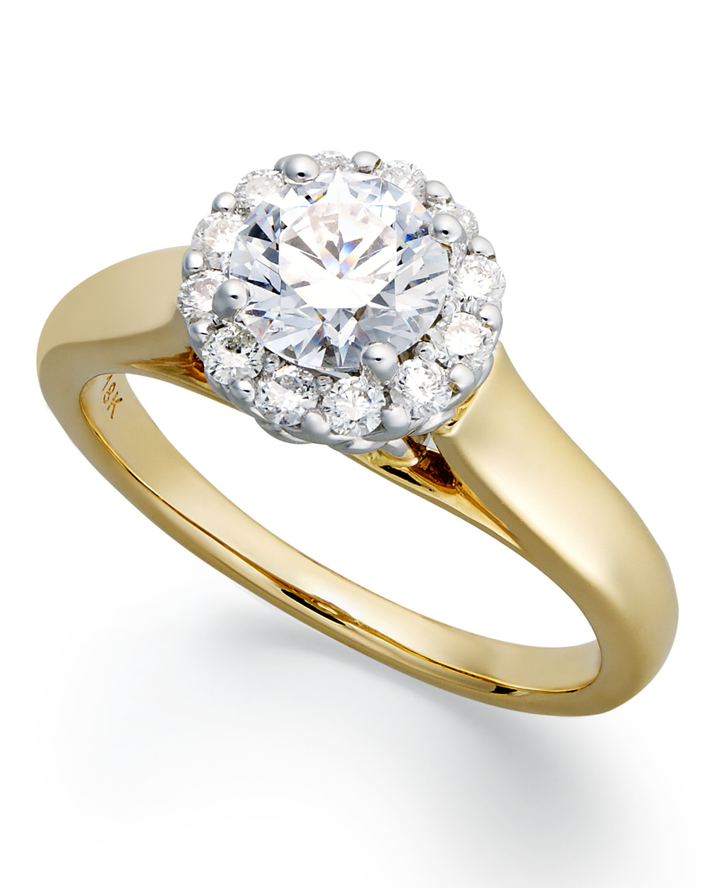 Yellow Gold Multiple Stones Engagement Ring IE2060CTA1