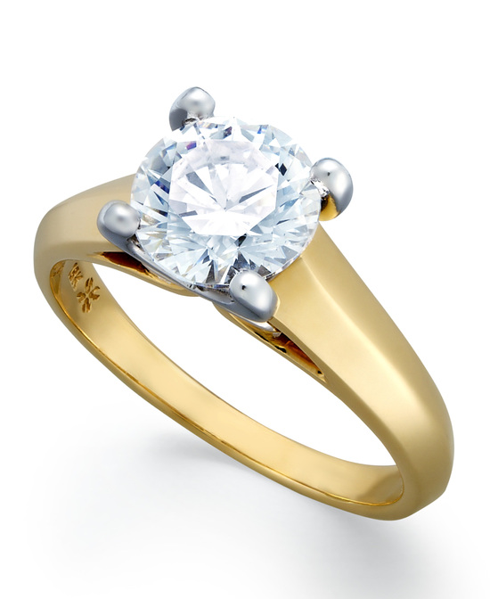 Yellow Gold Solitaire Engagement Ring IU1080CTA1