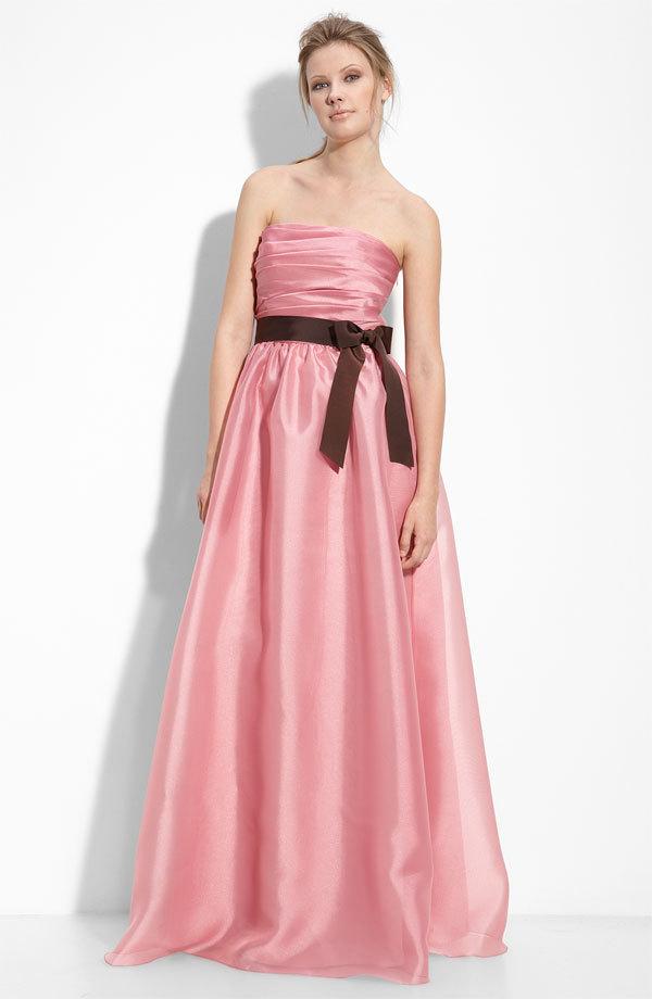 Pink-bridesmaid-dress-strapless-long-monique-lhuillier-romantic-sash.full