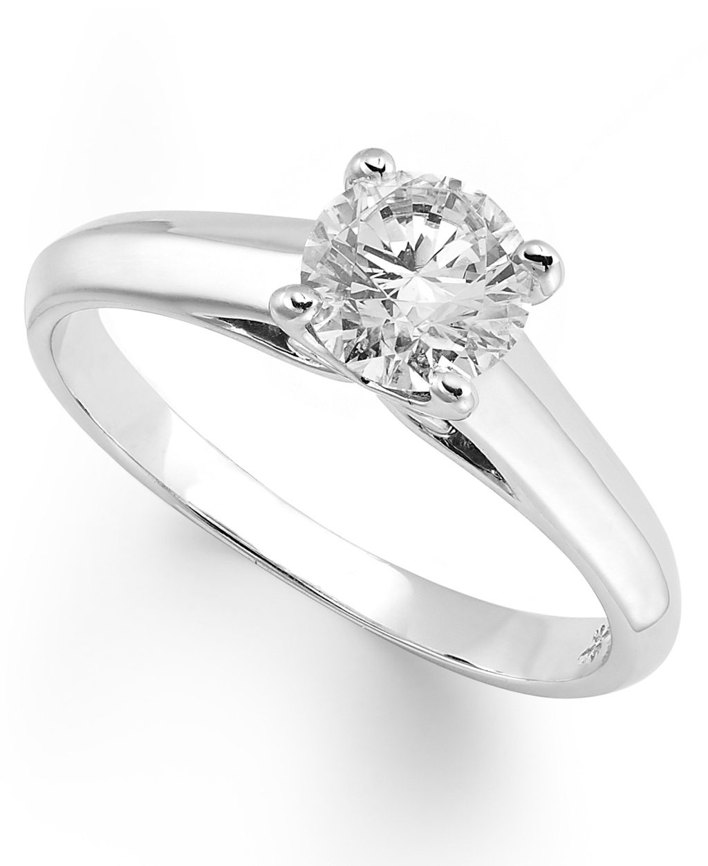 White Gold Solitaire Engagement Ring IU1054CWA1