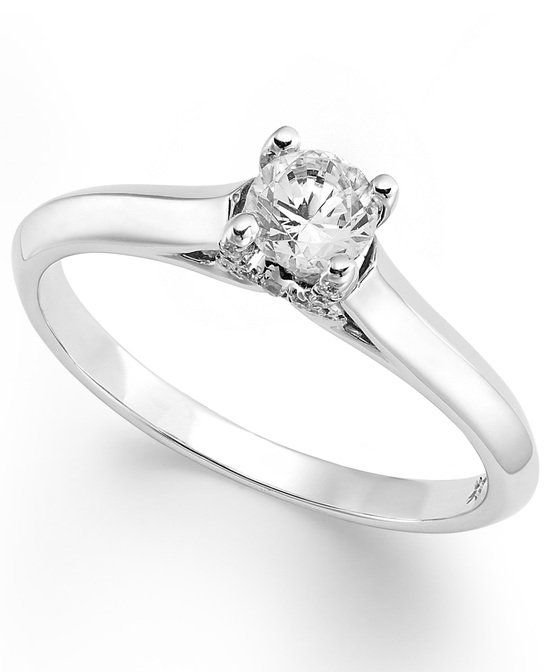 photo of White Gold Solitaire Engagement Ring IE1451CWA1