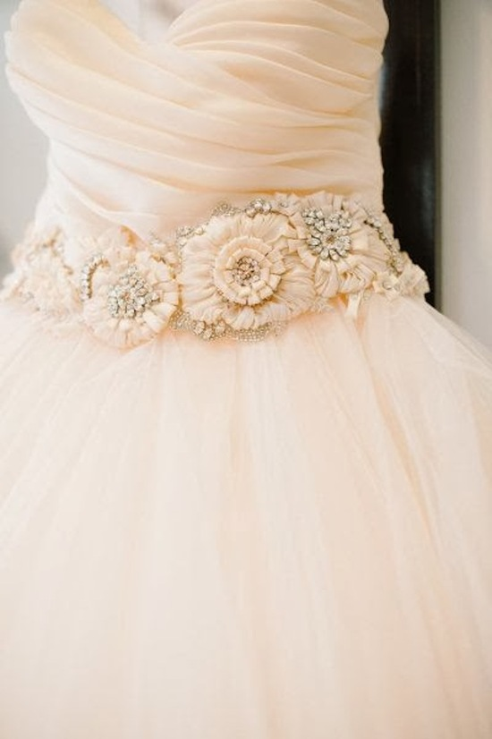 Lazaro Gown via Style Me Pretty