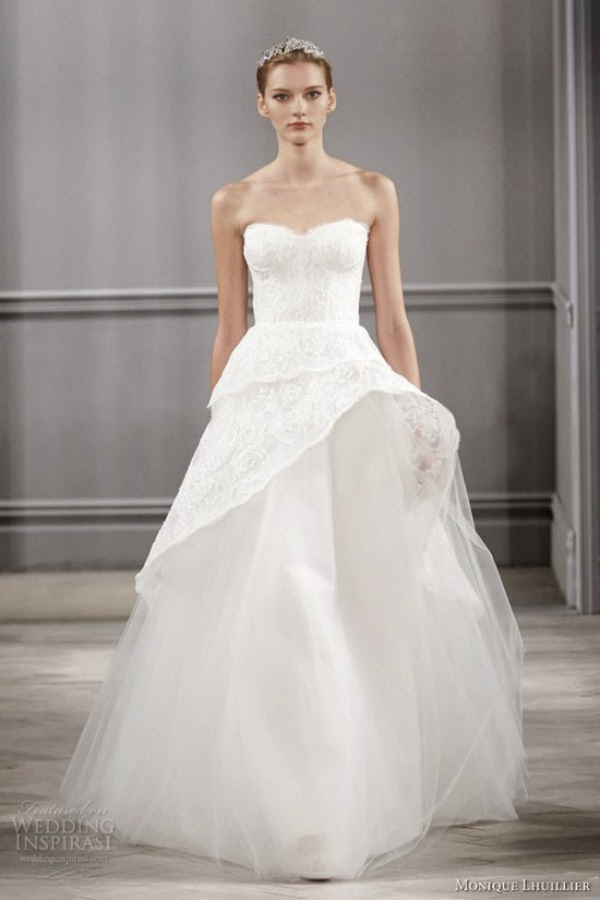 Monique Lhuillier via Wedding Inspirasi
