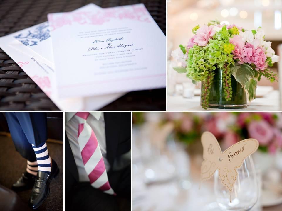 Romantic Outdoor Napa Ca Winery Wedding With Navy Blue