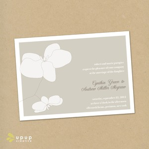 photo of Orchids eco-friendly DIY wedding invitations kit by Up Up