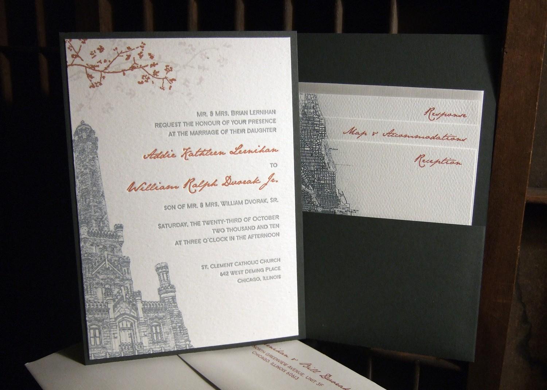 Orange And Green Wedding Invitations: White, Charcoal Grey And Burnt Orange Eco-friendly