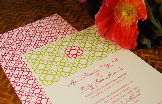 photo of Moira Hearts eco-friendly printable wedding invitations