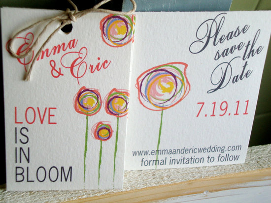 photo of Lucky Lola eco-friendly save-the-dates with plantable wildflower packets
