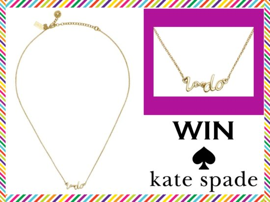 photo of WIN Kate Spade Jewelry: The 'I Do' Bridal Necklace