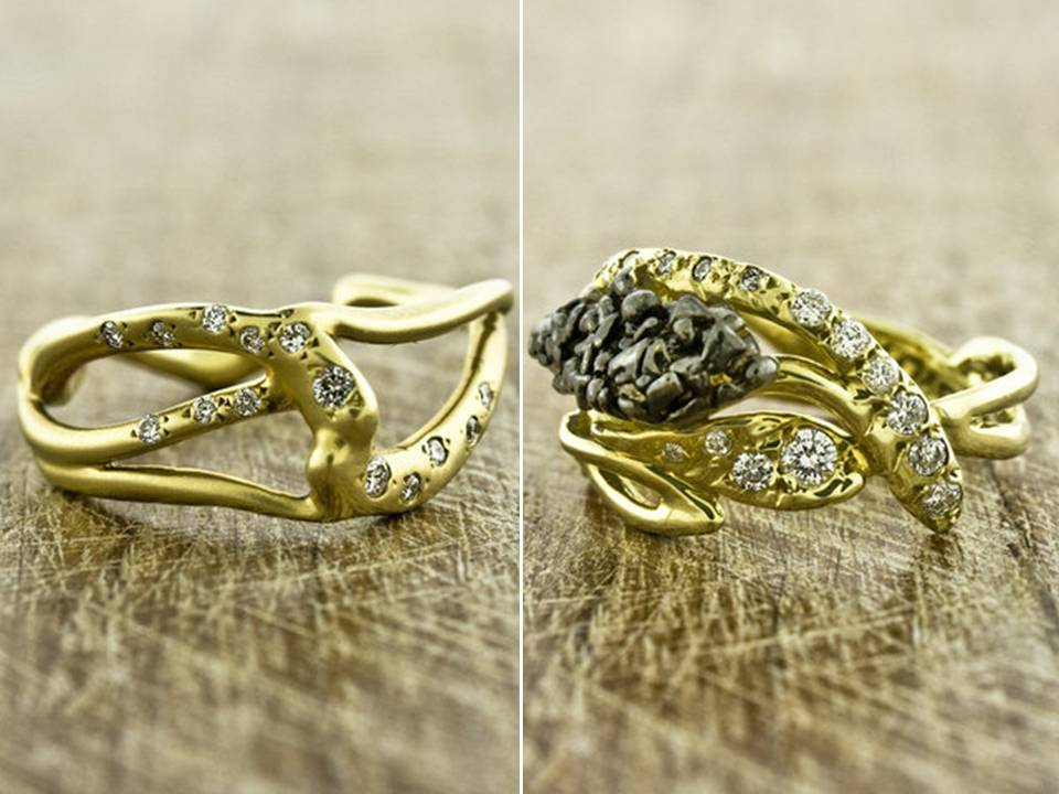 Organic-engagement-rings-wedding-bands-yellow-gold-diamonds.full
