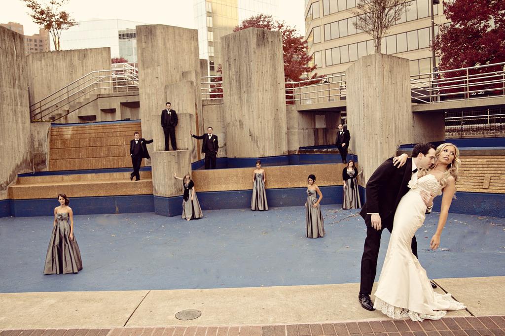 Baltimore-wedding-silver-bridesmaids-dresses-ivory-mermaid-bridal-gown.full