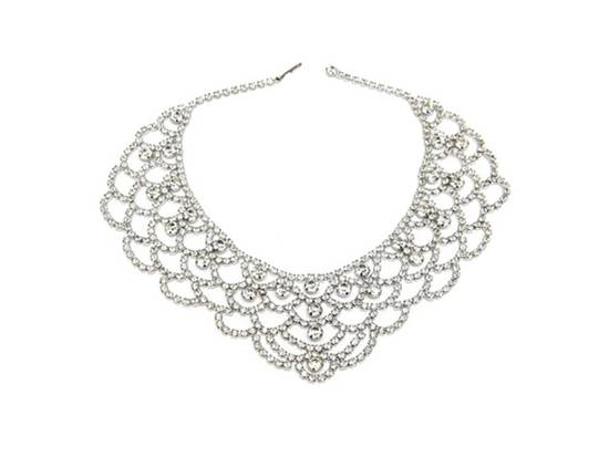 Stunning vintage bib bridal necklace, one-of-a-kind from The Aisle New York