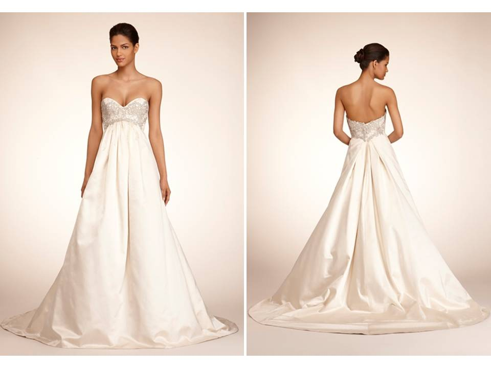 Ivory Ball Gown Wedding Dress: Ivory Ballgown With Empire Waist And Sweetheart Neckline
