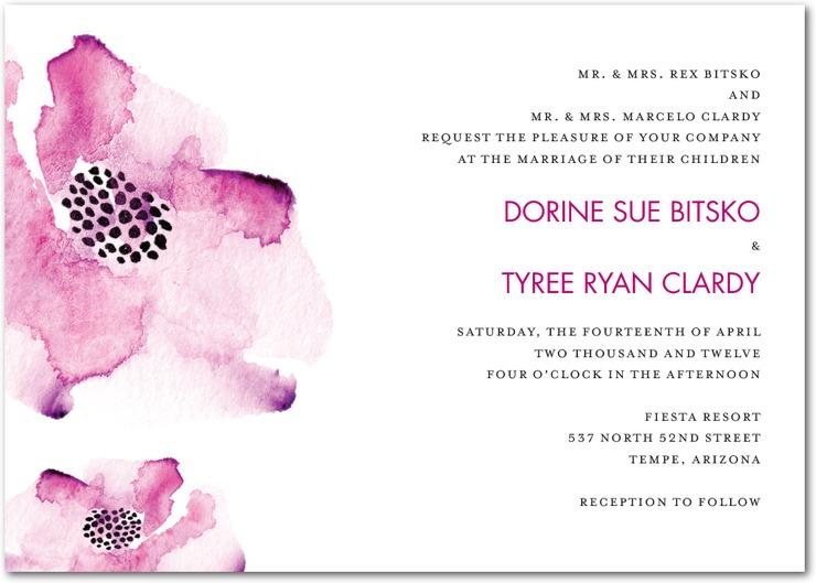 Spring-wedding-invitations-romantic-floral-design-purple-wedding ...