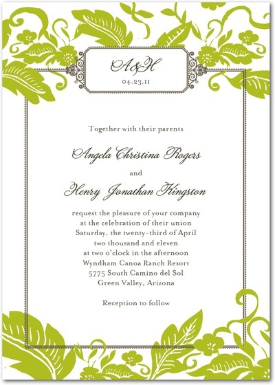 photo of Gorgeous Spring Wedding Invitations from Wedding Paper Divas