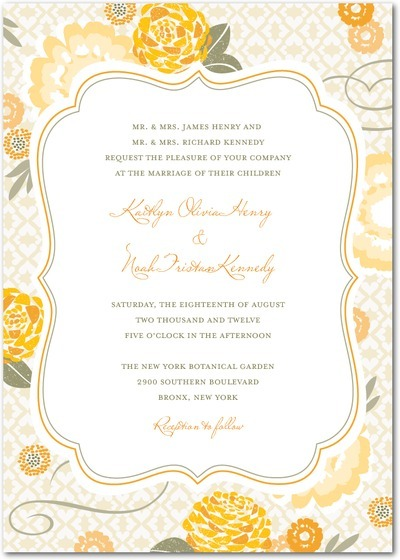 Citrus wedding inspiration- Spring wedding invitations from Wedding Paper Divas