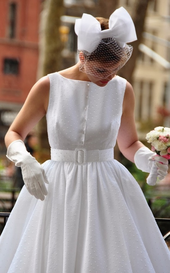 Wedding dresses on onewed for Dotted swiss wedding dress