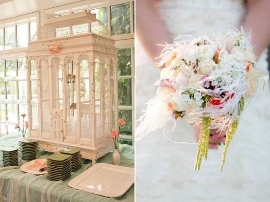photo of Las Vegas Wedding with Vintage Flair, Soft Wedding Color Palette