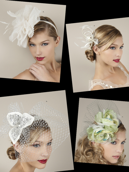 photo of Couture-inspired bridal headpieces, headbands and bridal blushers and veils inspired by the royal we