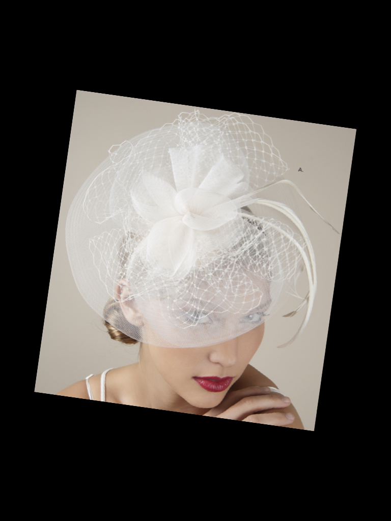 photo of Royal wedding-inspired ivory bridal fascinator and blusher