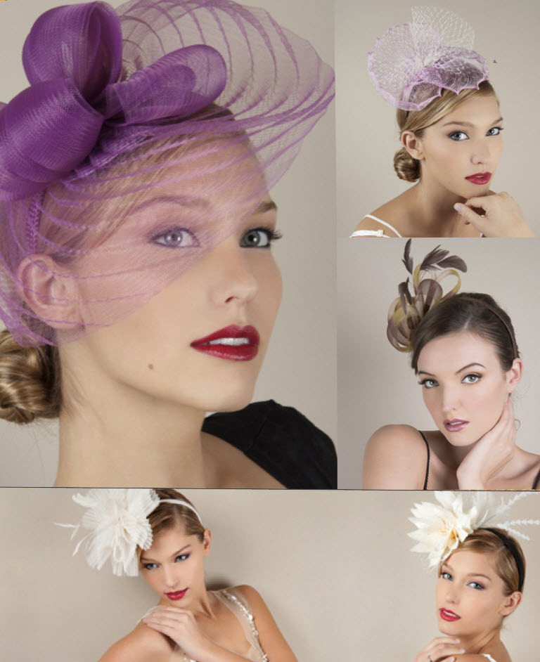 Royal-wedding-style-inspiration-wedding-guest-hats-bridal-fascinators-purple-ivory-feathers.full