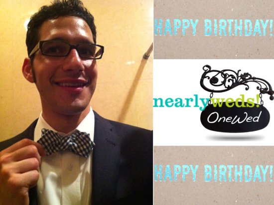 photo of Happy birthday to OneWed.com and Nearlyweds.com CEO, John Scrofano