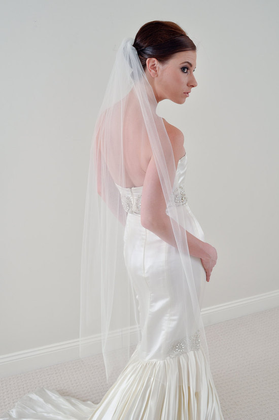 photo of Elegant waltz bridal veil by arielj on Etsy