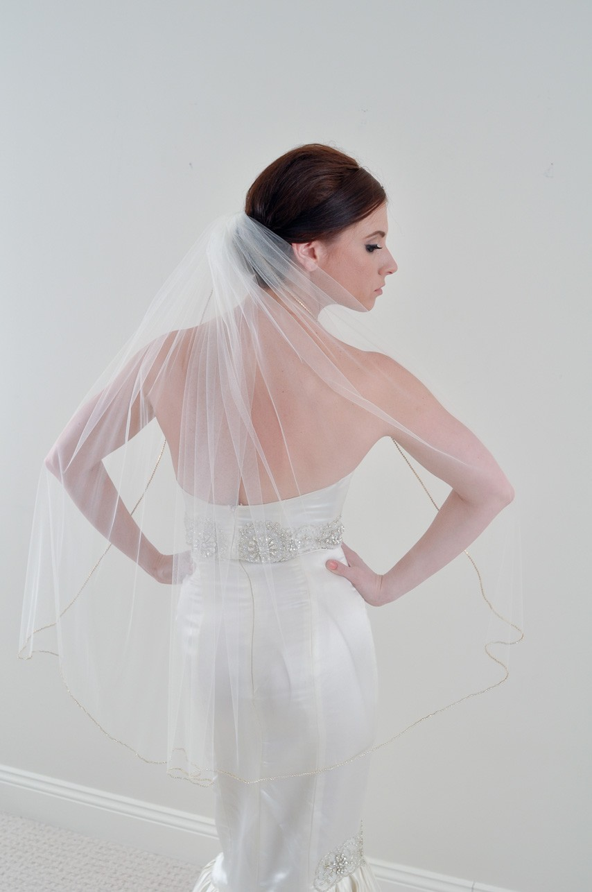 length tulle bridal veil on Etsy