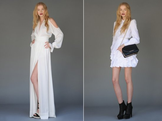 Beach and destination wedding dress with high slit by Rachel Zoe