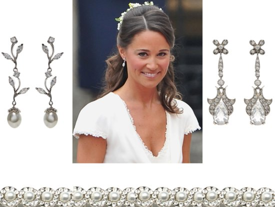 Pippa Middleton-inspired wedding earrings from Tejani