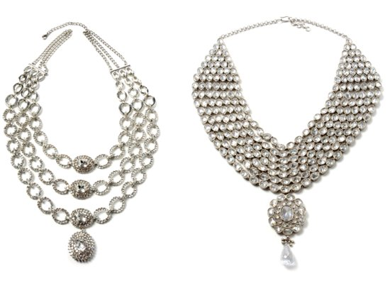 Pair one of these statement necklaces with a strapless or sweetheart wedding dress