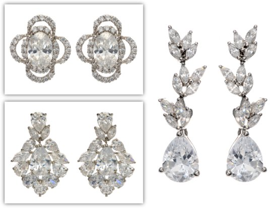 Get Kate Middleton's royal wedding look- bridal earrings and barett by Tejani