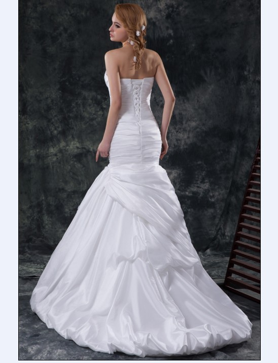 Sweet%20heart%20off%20shoulder%20pleated%20mermaid%20train%20satin%20sheath%20wedding%20dress.full