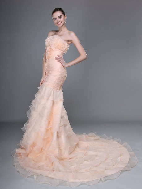 Off%20shoulder%20mermaid%20train%20tiered%20tulle%20floral%20wedding%20dress.full