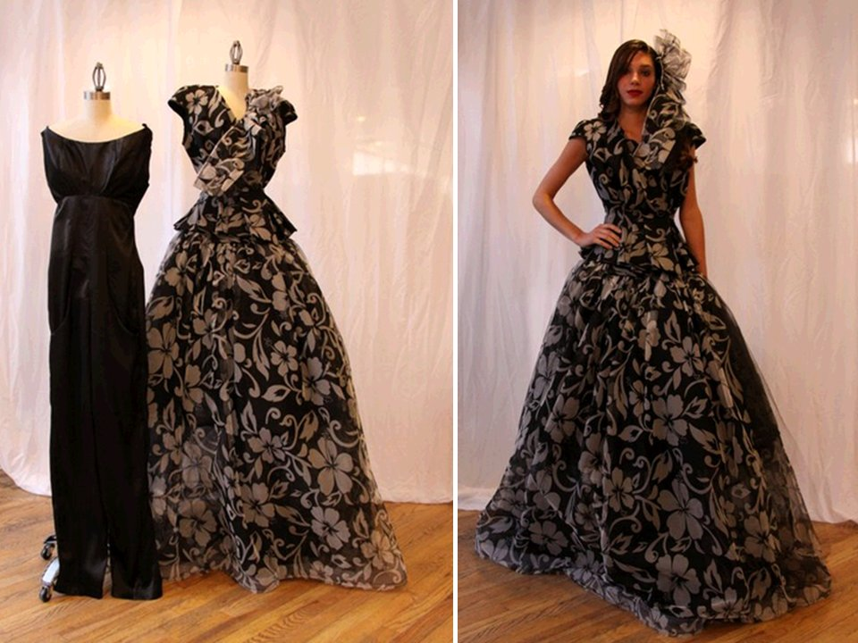 Unconventional-ballgown-wedding-dress-black-white-versatile.full