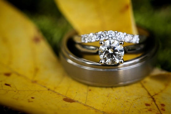 Engagement rings fall photo