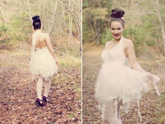 photo of Enchanted Forest whimsical wedding dress by Angels Bridal Boutique