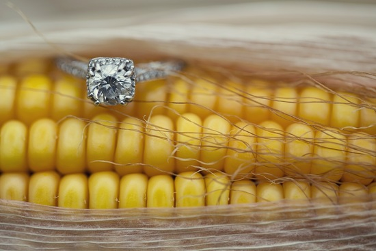Rustic ring shot in corn
