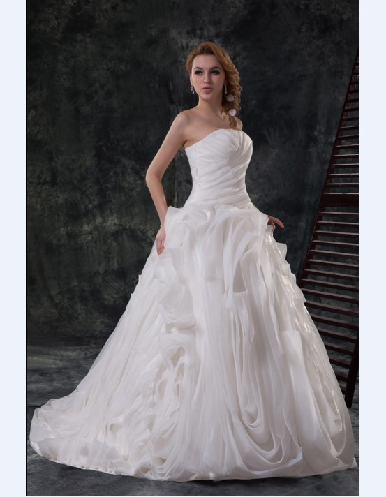 Sweet%20heart%20off%20shoulder%20pleated%20organza%20satin%20sheath%20bridal%20wedding%20dress3.full