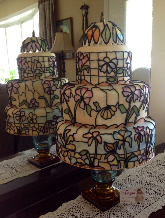 Tiffany Glass Cake