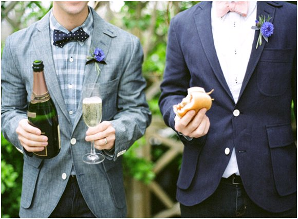 Summer-wedding-inspiration-peonies-wedding-flowers-blue-white-denim-bowtie-groom-best-man.full