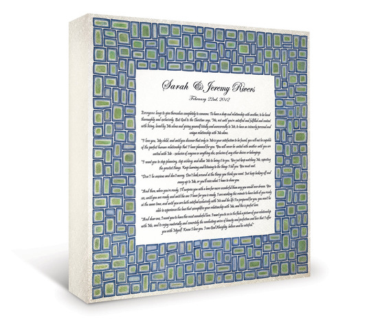 Classic fine art wedding certificate to honor your vows