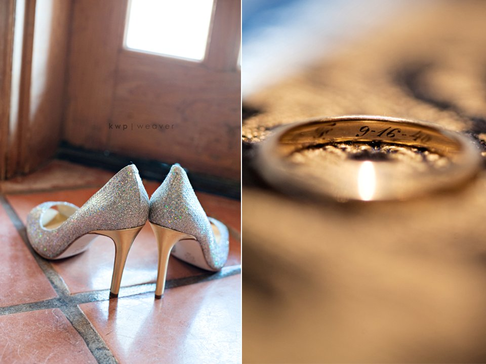 Stylish-wedding-shoes-metallic-bridal-heels-engraved-wedding-bands.full